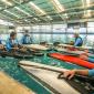 Los seleccionados argentinos de Kayac Polo, en el CENARD